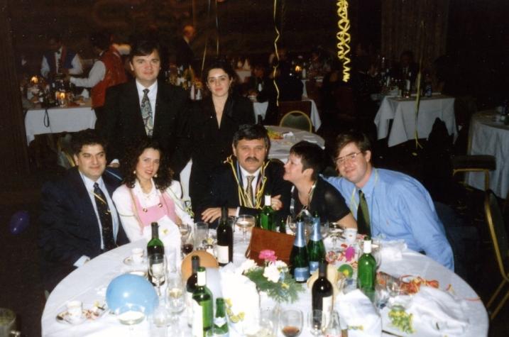 Docek Nove godine 1996. u Budimpesti, Tahih Hasanovic, Dusan Mihajlovic i Ivan Djordjevic