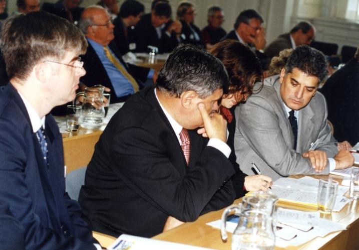 Prijem Nove demokrtatije liberala Srbije u svetsku porodicu, Ivan Djorđevic, Dusan Mihajlovic i Tahir Hasanovic