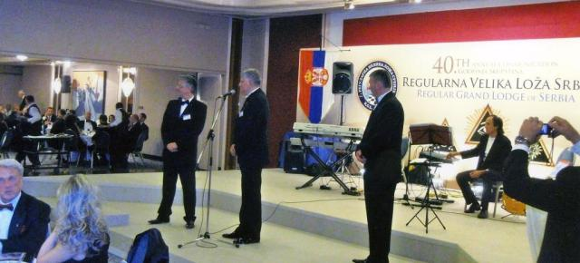 Tahir Hasanovic na proslavi 90 godina masonerije i 40. Skupstina Regularne Velike Loze Srbije