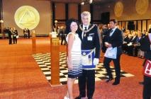 Tahir Hasanovic sa suprugom Marinom, Rad Velikog Orijenta Italije