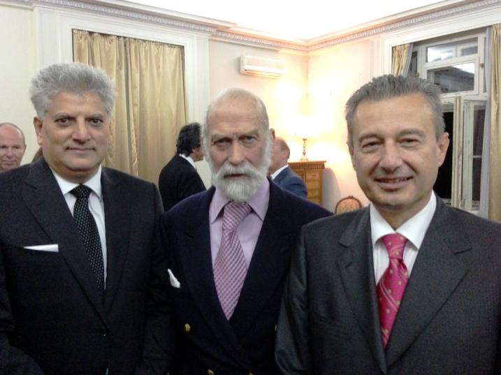 Tahir Hasanovic, HRH Prince Michael of Kent, Ranko Vujacic