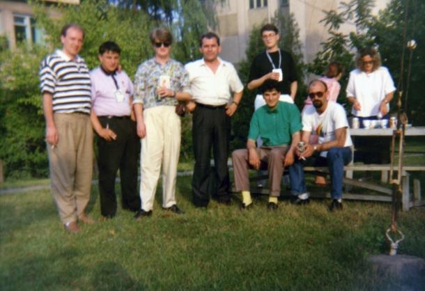 Ambasada SFRJ u Pjongjangu 1989. godine, članovi poslednjeg predsedništva omladine Jugoslavije
