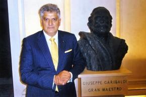 Tahir Hasanovic at the annual gathering of Grand Orient of Italy (Grande Oriented'Italia)