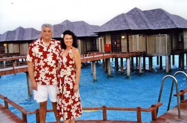 Marina i Tahir Hasanovic na Maldivima