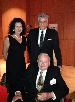 Marina and Tahir Hasanovic with David Rockefeller, Founder and Honorary Chairman of the Trilateral Commission
