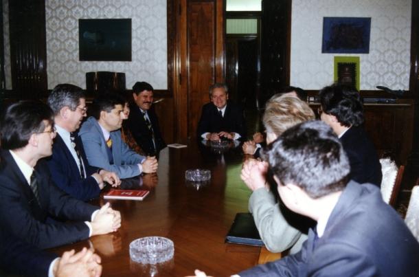 Nova demokratija sa Predsednikom Srbije Slobodanom Miloševićem 1995. godine