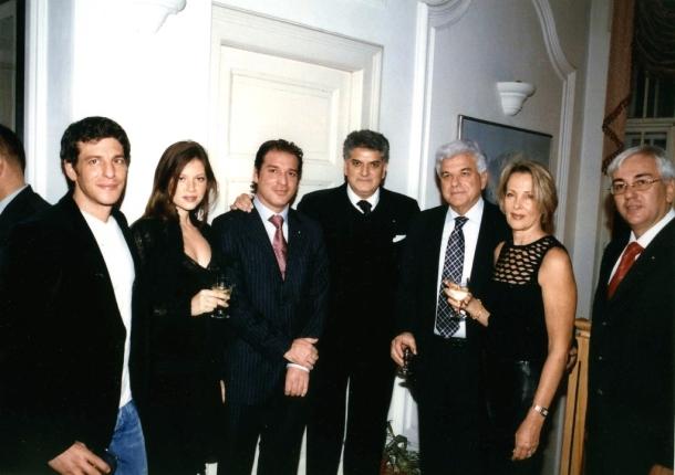 Novogodišnja proslava, gospodin Meir Avital i njegova porodica