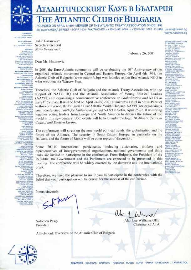 Poziv za učešće na konferencija Atlantskog kluba Bugarske