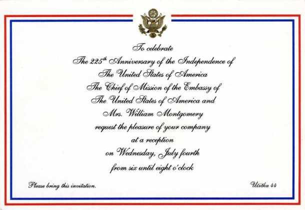 Pozivnica za Dan nezavisnosti