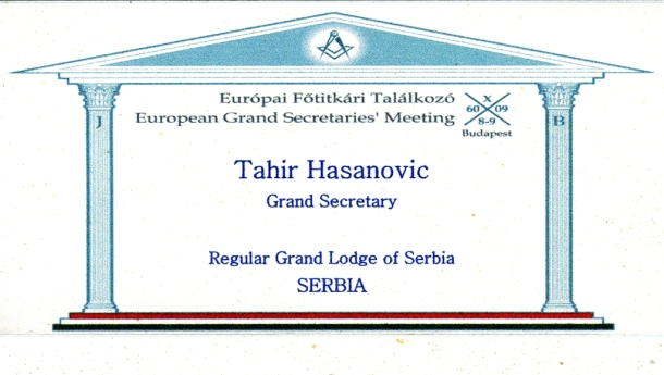 Sastanak Velikih Sekretara Velikih Loža Evrope u Budimpešti