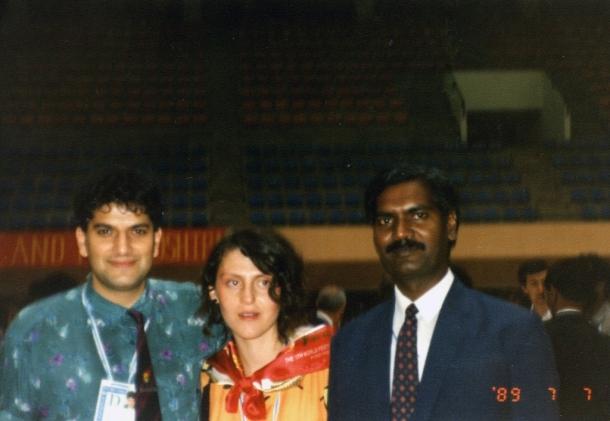 Svetski kongres omladine u Pjongjangu 1989. godine, potpredsednik Kongresne partije Indije