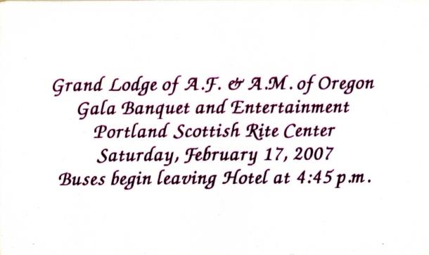 Svetski kongres Velikih Loža u Portlandu, Oregon, SAD, slika 1