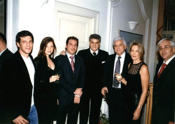 Tahir Hasanovic at the New Year party with Meir Avital and his family