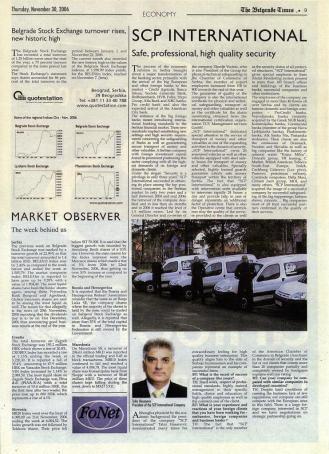 Tahir Hasanovic for The Belgrade Times, SCP International