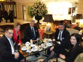 Jovan, Jagoda, Tahir, Dejan and Jasmina at Adlon Kempinski hotel in Berlin