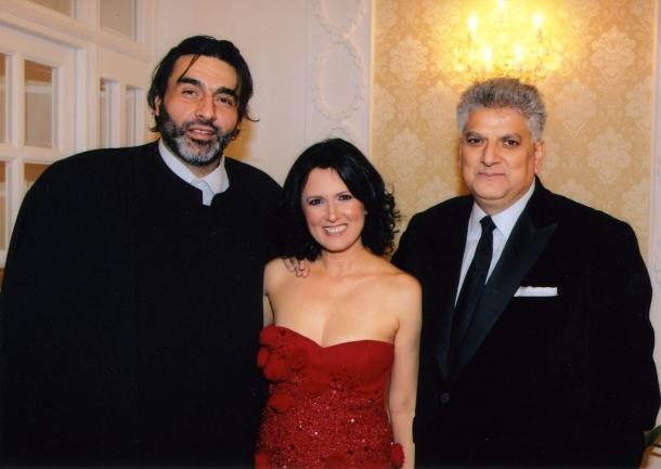 Tahir Hasanović sa prijateljem Muhamedom Jusufspahićem, Muftijom beogradskim