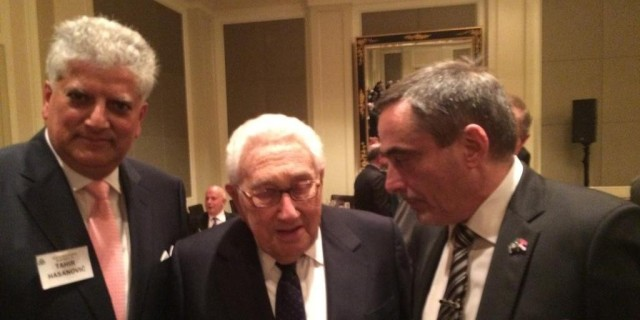 Henry Kissinger and Jovan Kovacic and Tahir Hasanovic