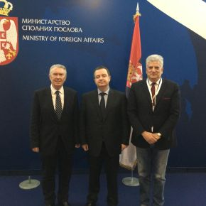 Meeting with the Minister of Foreign Affairs IvicaDačić.
